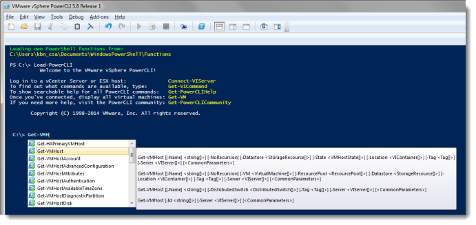 PowerShell: Add VMware PowerCLI to PowerShell ISE on demand